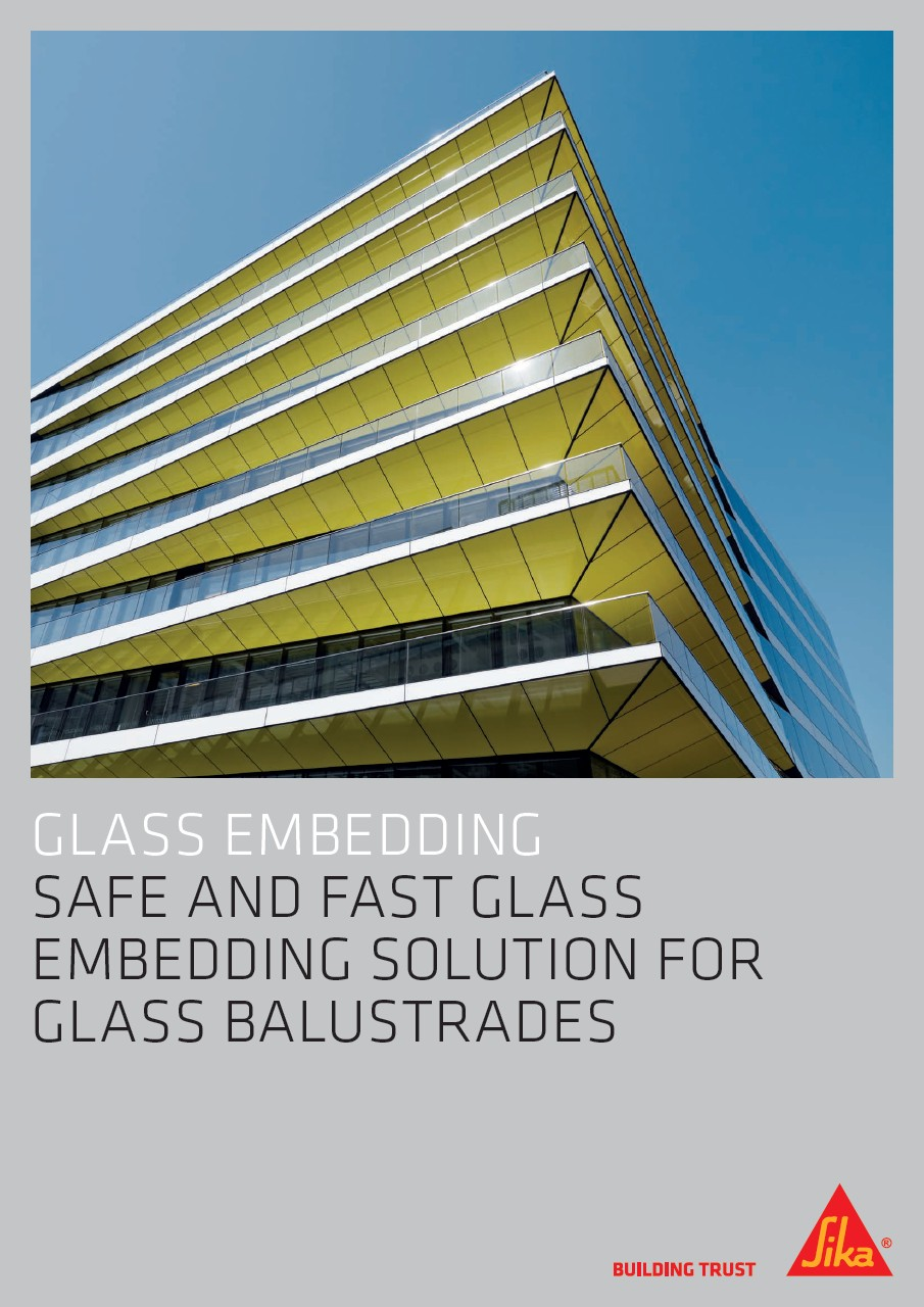 Glass Embedding - Safe and fast Glass Embedding Solution for Glass Balustrades